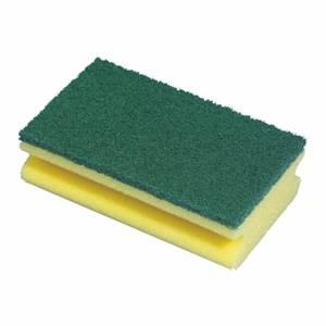 Topfreiniger, Schwamm 15,5 cm x 8,5 cm x 4 cm gelb mit Griffrille