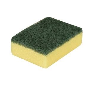 Topfreiniger, Schwamm 3 cm x 9,5 cm x 7 cm gelb/grün