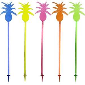 Longdrink-Sticks 23,5 cm farbig sortiert Ananas