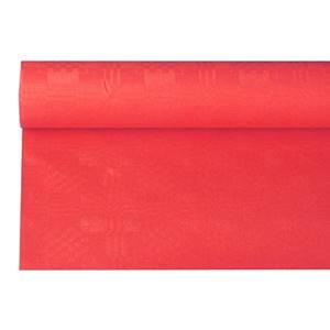 Papiertischtuch mit Damastprägung 6 m x 1,2 m rot