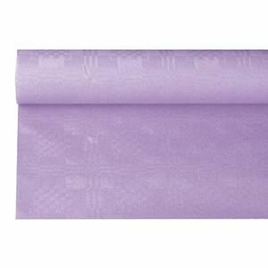 Papiertischtuch mit Damastprägung 6 m x 1,2 m lila