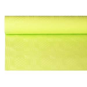 Papiertischtuch mit Damastprägung 6 m x 1,2 m limonengrün