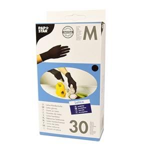Handschuhe, Latex puderfrei schwarz Größe M