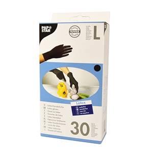 Handschuhe, Latex puderfrei schwarz Größe L
