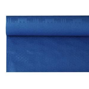 Papiertischtuch mit Damastprägung 6 m x 1,2 m dunkelblau