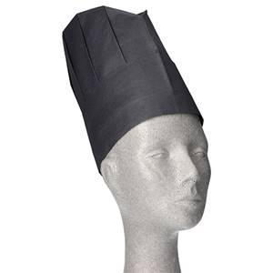 Kochmützen, Krepp 23 cm x 27,5 cm schwarz Provence Größenverstellbar