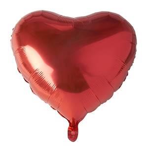 Folienluftballon Ø 45 cm rot 'Heart' large