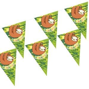 Wimpelkette, Papier 4 m 'Happy Sloth'