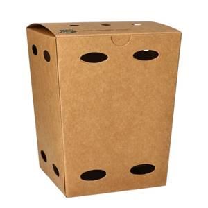 Pommes-Frites-Boxen, Pappe pure 15 cm x 10,5 cm x 10,5 cm braun 100% Fair klein