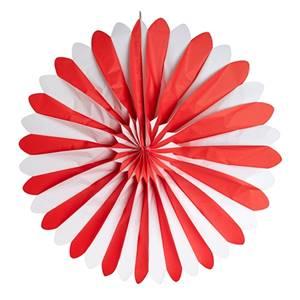Dekofächer Ø 120 cm rot/weiss schwer entflammbar