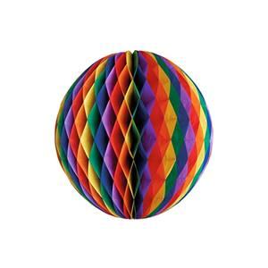 Wabenball Ø 30 cm 'Rainbow' schwer entflammbar