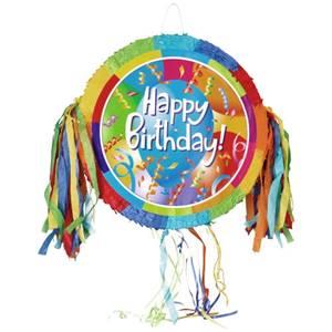 Pinata 47 cm x 47 cm x 10,5 cm farbig 'Happy Birthday'