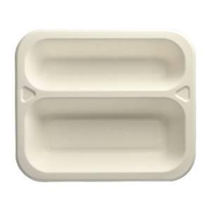 Siegelschalen, Zuckerrohr 2-geteilt 4,2 cm x 21,2 cm x 25 cm weiss