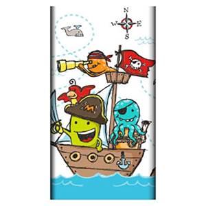 Tischdecke, Papier 120 cm x 180 cm 'Pirate Crew' lackiert