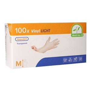 Medi-Inn® PS Handschuhe, Vinyl gepudert Light transparent Größe M