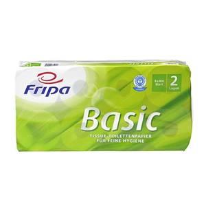 Toilettenpapier, 2-lagiges Tissue Ø 12 cm · 12 cm x 10 cm weiss 'Basic' 400 Blat