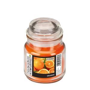 Flavour by GALA Bonbonglas mit Wachsfüllung Ø 63 mm · 85 mm orange - Orange
