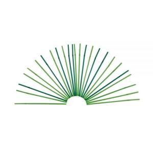 PLA-Trinkhalme mit Knick 24 cm, Ø 0,5 cm, hell-/ dunkelgrün gemischt