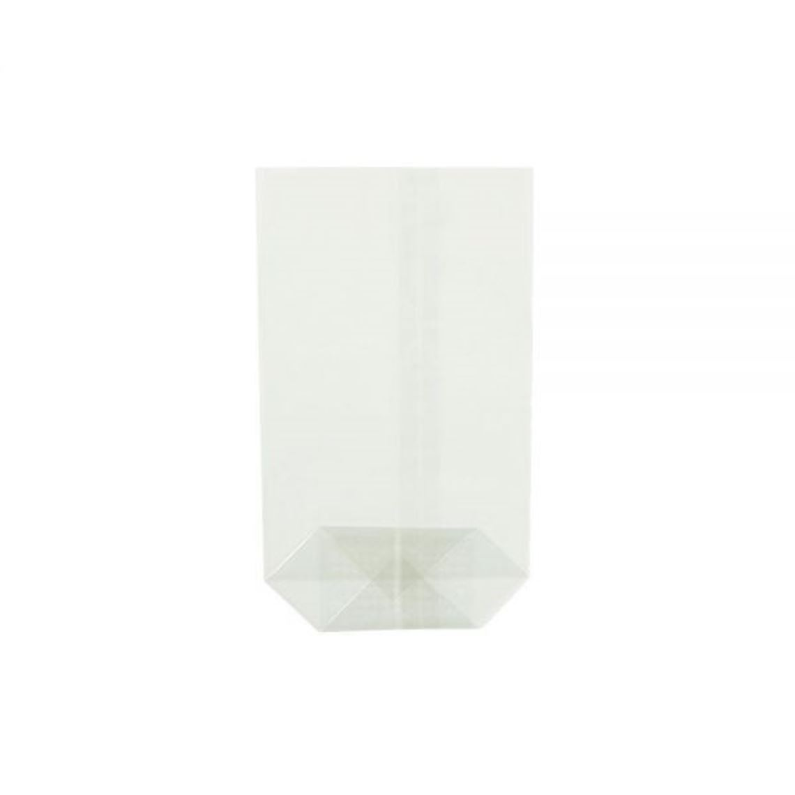 Zellglas-Kreuzbodenbeutel 11,5 x 19 cm, transparent